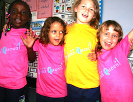 Lusaka Academy shows their new funky 'Drama Queen' t-shirts! - Zambia