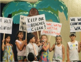 Students at International Primary School campaign for clean seas - Mauritius